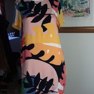 Vici Rayon Abstract print dress
